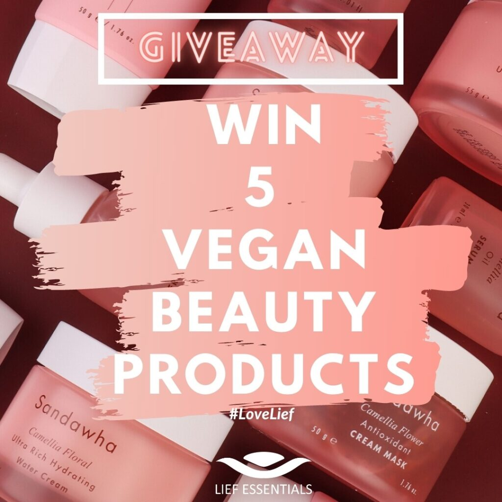 Sandawha Giveaway Lief Essentials Vegan Beauty products